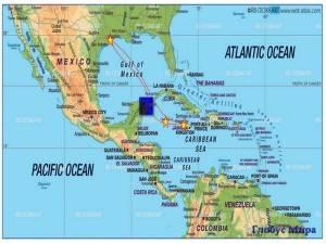 Канкун и его достопримечательности на карте (Мексика)