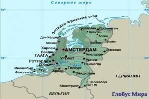 Карта Голландии