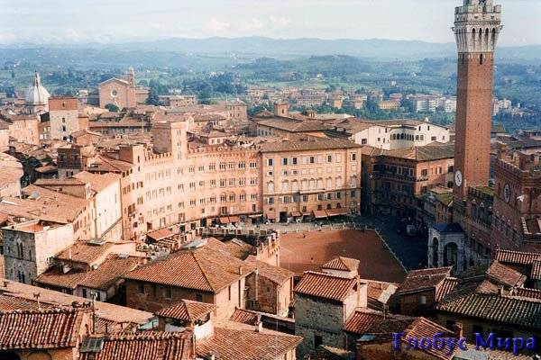 Торре дель Манджиа. Италия, достопримечательности в Сиенне