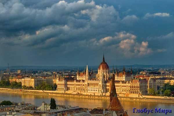 Будапешт, Венгрия, на закате