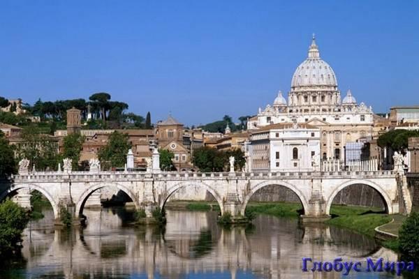 Мост через р. Тибр в Ватикане