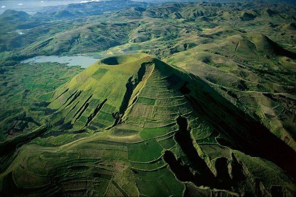 Живописные склоны вулкана