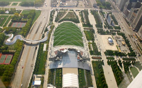 Милениум-парк с высоты
