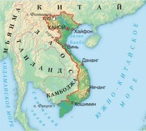 Ханой на карте мира