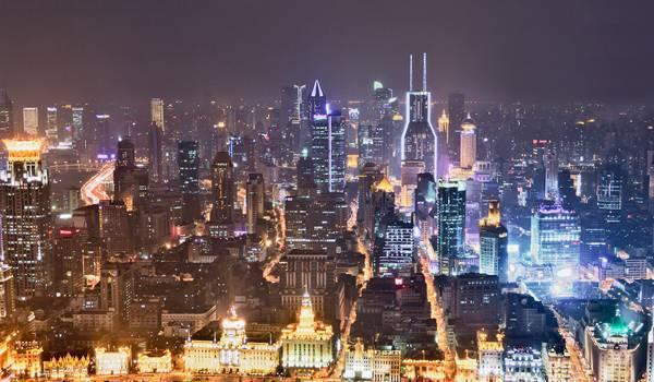 Ночной Шанхай прекрасен