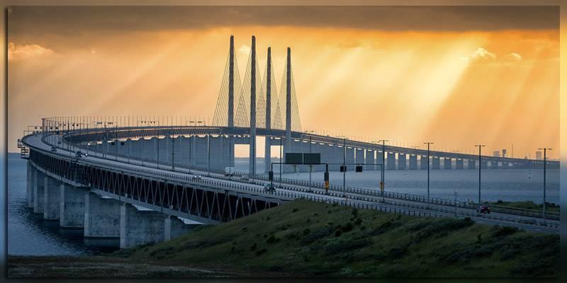 Мост-тоннель из Дании в Швецию