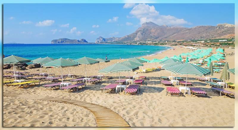 Пляж Phalasarna на острове Крит