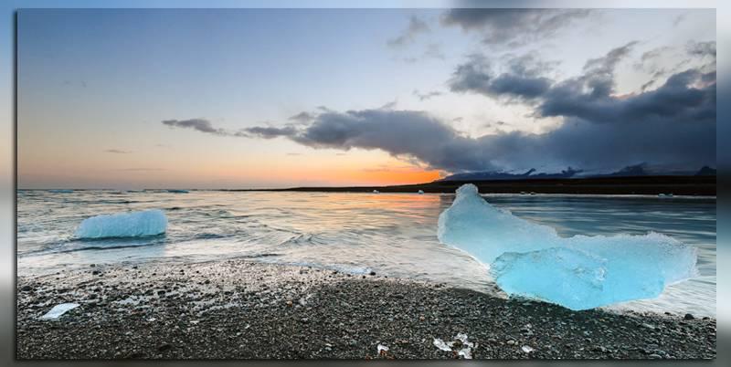 Пляж Jokulsarlon в Исландии