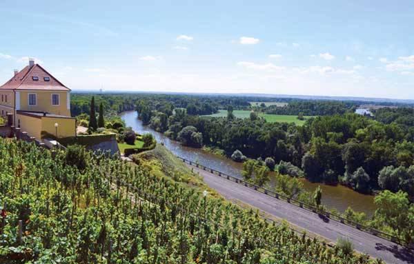 Вид на окрестности Мельника в Чехии