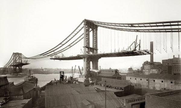 Строительство Бруклинского моста