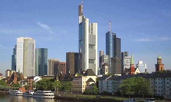 Город в в Германии Франкфурт-на-Майне