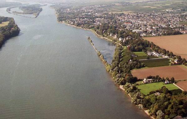 Река Рейн на карте