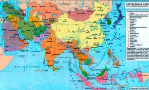 Политическая карта региона Азии