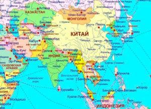 Страны Азии со столицами