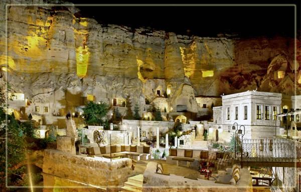 Город Юргуп, отель в скале
