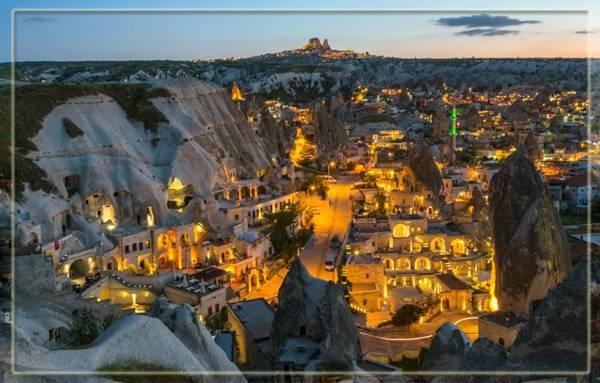 Вечерние огни Каппадокии