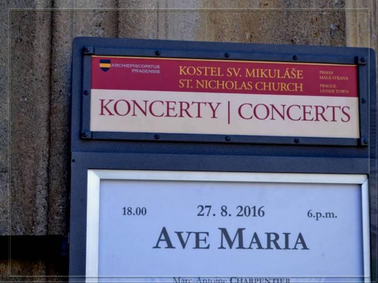 Афиша конуцертов в церкви святого николая