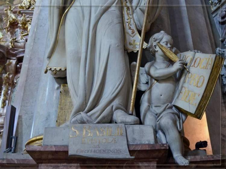 Скульптура в церкви святого Микулаша