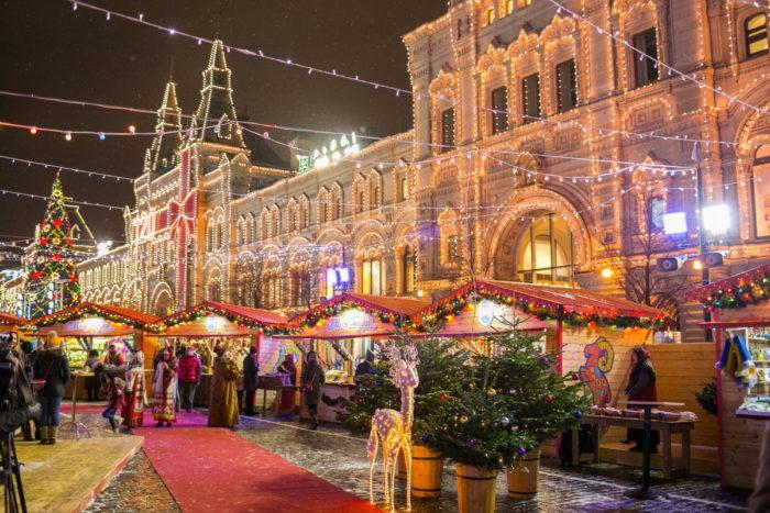 Рождественский праздник в ГУМе