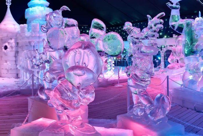 Выставка ледяных фигур в Петропавловской крепости